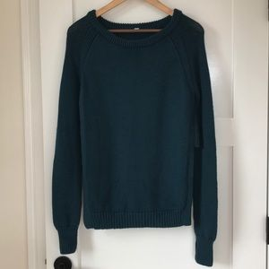 Lululemon Yin to You Merino Sweater Dark Teal Blue
